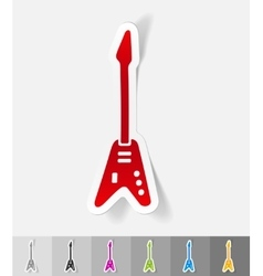 Realistic design element electric guitar vector
