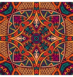 Abstract geometric ethnic tribe seamless pattern vector