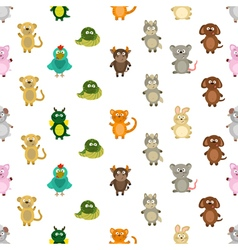 Seamless pattern chinese zodiac signs vector