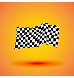 Racing background with checkered flag vector