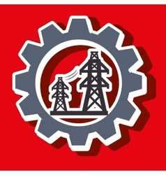 Signal of electricity isolated icon design vector