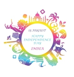 Symbol of independence day of india vector