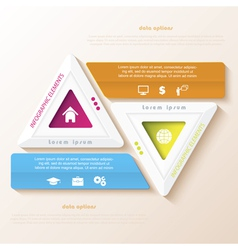 Abstract infographic design with triangles vector