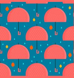 Autumn umbrella seamless pattern vector
