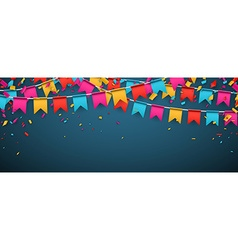Banner with colour flags vector image