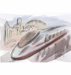 bullet train vector image