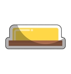 butter fresh isolated icon vector image