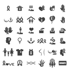 Cancer icons vector