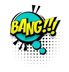 Comic blue sound effects pop art word bang vector