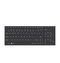 Computer Realistic Black Keyboard Ioslated on vector image vector image