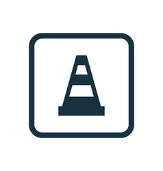 Construction cone icon rounded squares button vector