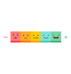 emoticons scale - feedback concept design vector image
