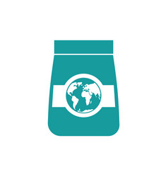 Export goods icon packing and earth business vector