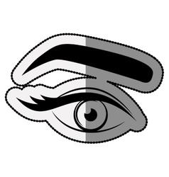 Female eye cartoon design vector