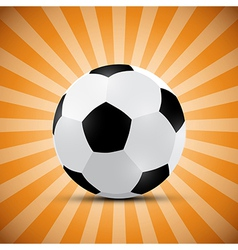 Football Ball on Orange Retro Background vector image vector image