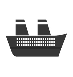 Gray ship travel maritime vector