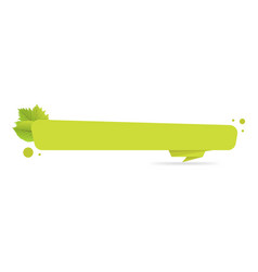 green paper origami banners with leaves template vector image vector image