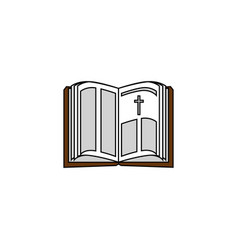 Holy bible open vector