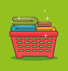 laundry basket icon vector image