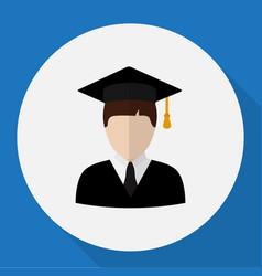 Of job symbol on student flat vector