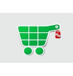 Paper buy icon vector image
