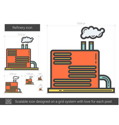 Refinery line icon vector