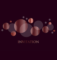 Rose gold and black color abstract geometric desig vector