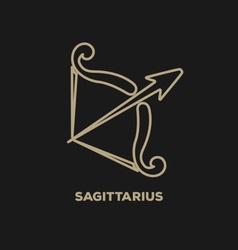 Sagittarius Horoscope Icon vector image vector image