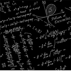 seamless background with math symbols vector image
