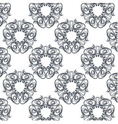Seamless textute vintage decorative ornate design vector