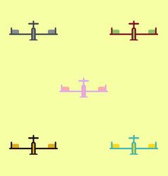 Set in flat style playground vector