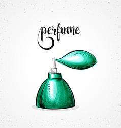 Stylish colored hipster fashion perfume handmade vector image vector image