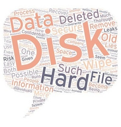 The hard disk wipe process text background vector