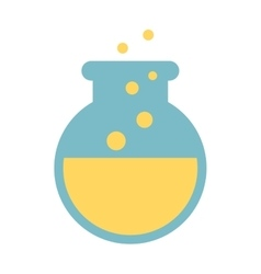 tube test laboratory isolated icon design vector image