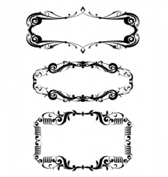 victorian frame set vector image vector image