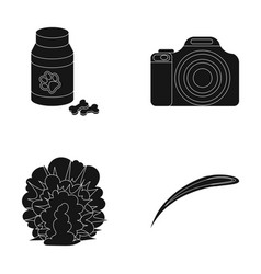 War veterinary and or web icon in black style vector