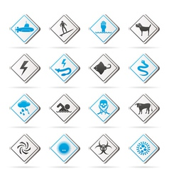 Warning Signs for dangers vector image vector image