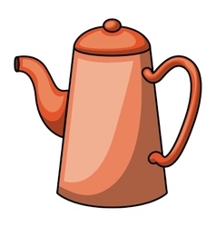 Coffee kettle cartoon design vector