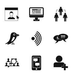 Message icons set simple style vector