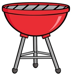 Red barbecue vector