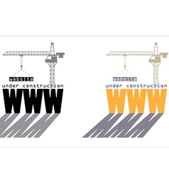 web under construction vector image