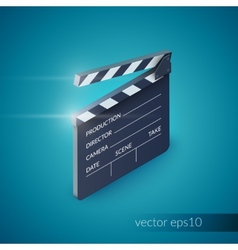 Clapperboard realistic vector