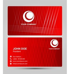 Red business card vector