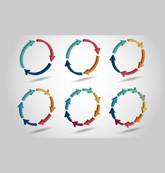 3D circle arrows vector image
