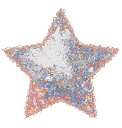 Color grunge star vector