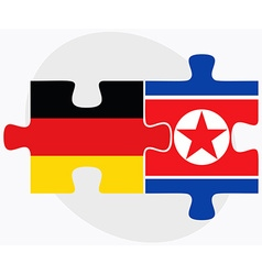 Germany and korea-north flags vector