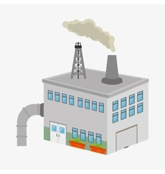 Factories and industries graphic vector