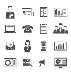 Marketing black icons vector