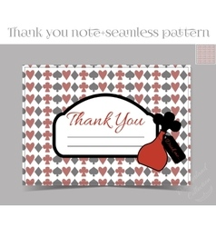 Thank you note - bottle from wonderland vector