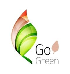Go green leaf nature concept vector